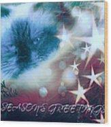 Seasons Greetings Wood Print