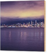 Seattle From Alki Wood Print