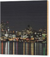 Seattle Skyline Wood Print by Michael Gass