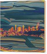 Seattle Swirl Wood Print