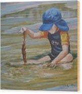 Seaweed Search Wood Print
