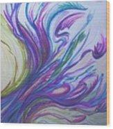 Seaweedy Wood Print