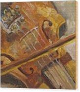 Secondhand Violin Wood Print