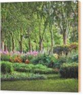 Secret Garden    Op Wood Print