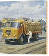 Seddon At Poole Docks. Wood Print