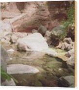 Sedona River Rock Wood Print