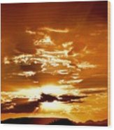 Sedona Sunset Wood Print