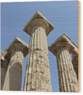 Segesta Greek Temple In Sicily, Italy Wood Print