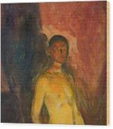 Self Portrait In Hell Wood Print