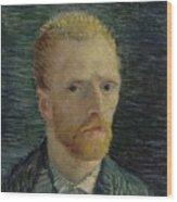 Self-portrait Paris July  August 1887 Vincent Van Gogh 1853  1890  Wood Print