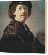 Self-portrait Rembrandt Harmenszoon Van Rijn Wood Print