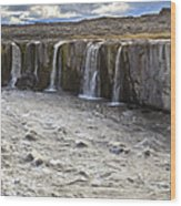 Selfoss Waterfall Wood Print