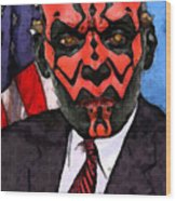 Senator Darth Maul Wood Print