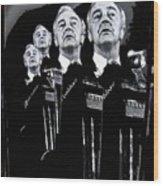 Senator Eugene Mccarthy Fontainebleau Hotel Collage #3 Democratic Nat'l Convention Miami Beach Fl Wood Print