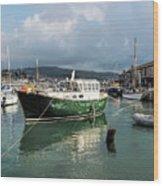 September Morning - Lyme Regis Harbour Wood Print