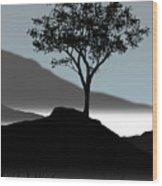 Serene Wood Print by Chris Brannen