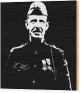 Sergeant Alvin York Graphic Wood Print