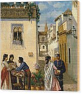 Sevillian Square Wood Print