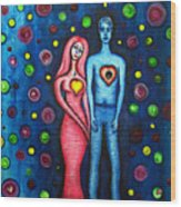 She Grieves The Hole In His Heart Wood Print