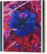 She Wore Blue Velvet Wood Print