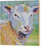 Sheep Head Wood Print