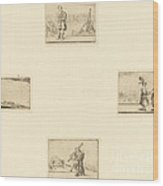Sheet Of Etchings Wood Print