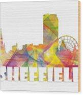 Sheffield England Skyline Wood Print