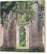 Sheldon Church Ruins Wood Print