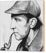 Sherlock Holmes Wood Print