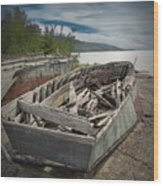 Shipwreck At Neys Provincial Park Wood Print