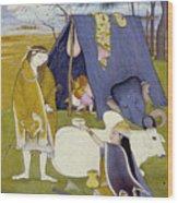 Shiva And His Family Wood Print