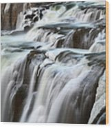 Shoshone Falls Close Up Wood Print