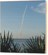 Shuttle Launch Wood Print