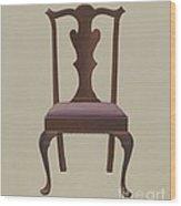 Side Chair Wood Print