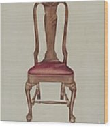 Side Chair Wood Print