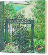 Side Gate Wood Print