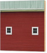 Side Of A Big Red Barn In The Palouse Wood Print