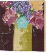Sienna Floral Wood Print