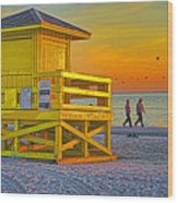 Siesta Key Sunset Wood Print