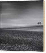 Silence - Fine Art Landscape Photography Wood Print