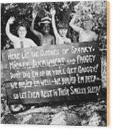 Silent Film: Little Rascals Wood Print