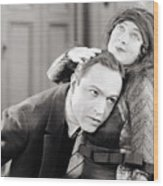 Silent Film Still: Couples Wood Print