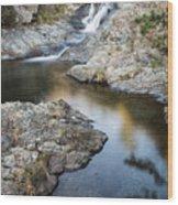 Silky Stream Wood Print