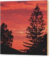 Simple Sunset Wood Print