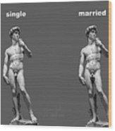 Singlemarried Png Wood Print