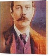 Sir Arthur Conan Doyle, Literary Legend Wood Print