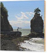 Siwash Rock Stanley Park Vancouver Wood Print