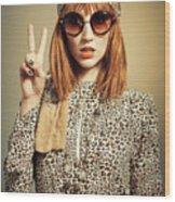 Sixties Retro Fashion Wood Print