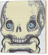 Skullnbone Wood Print