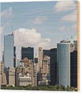 Skyline Of New York City - Lower Manhattan Wood Print